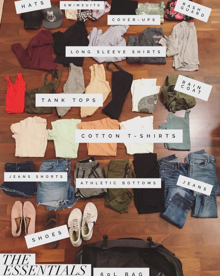 How many clothes equals60L?
